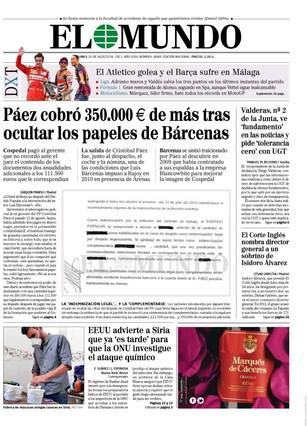 El Mundo, 26-8-2013.
