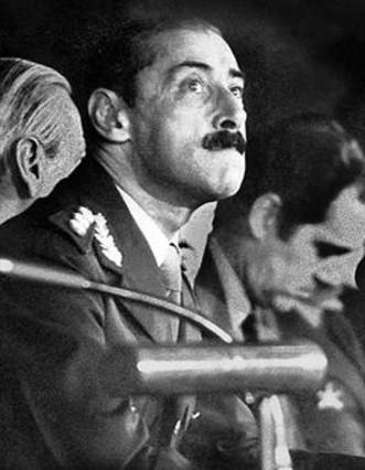 El dictador Jorge Rafael Videla, en 1978.