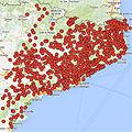 Mapa de los ayuntamientos catalanes que apoyan el 9-N