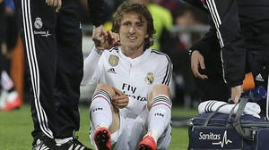 Modric es lamenta de la lesió soferta davant el Màlaga al Bernabéu, dissabte