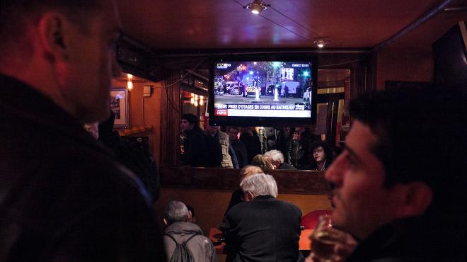 Vídeos de particulares de ayer en París