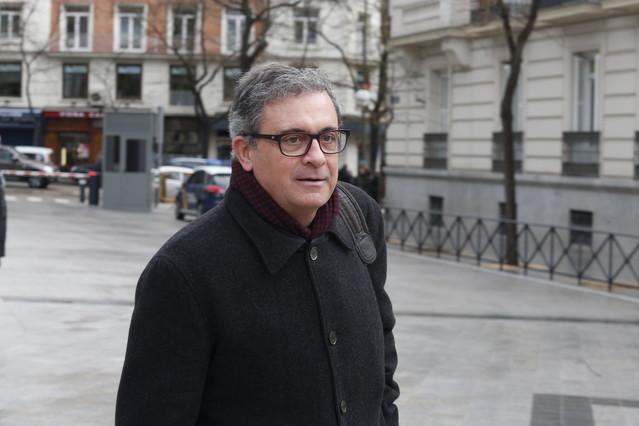 Jordi Pujol Ferrusola llega a la Audiencia Nacional, el pasado febrero.