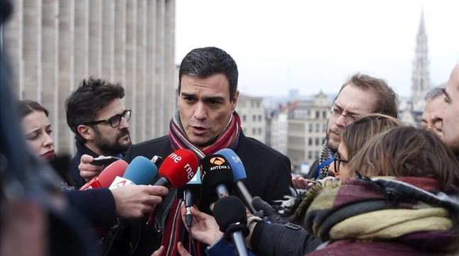Pedro Sánchez, el pasado jueves en Bruselas.