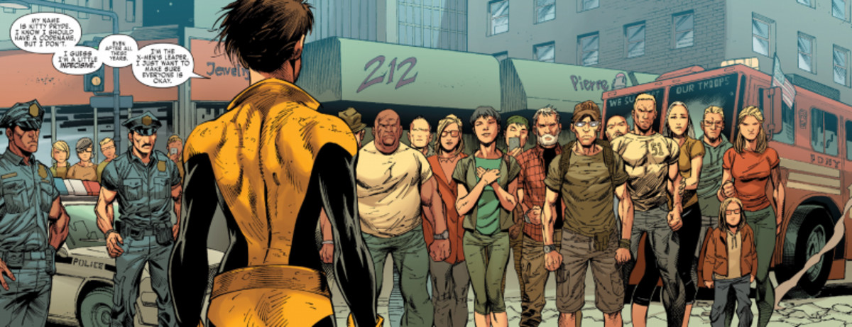 Una de las polémicas viñetas de Ardian Syaf en X-Men Gold.