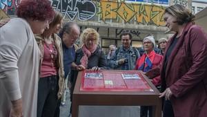 Acto de homenaje a Joan Penalver victima del atentado de la extrema derecha contra la revista El Papus con ocasion del 40 aniversario del ataque terrorista