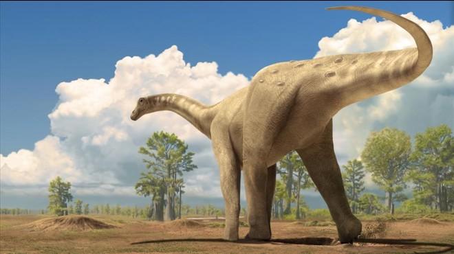 Recreaci�n art�stica de un gran tiranosaurio localizado en el 2004 en el Bergued�.