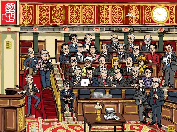 Los socialistas se caricaturizan en su nueva página web del Congreso