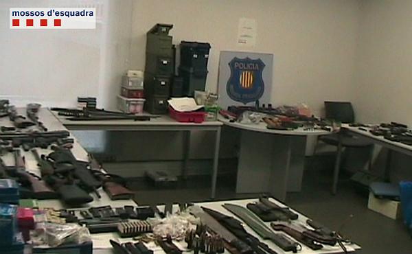 Desarticulat el dipòsit d'armes més gran trobat a Catalunya