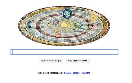 Google homenajea a Cop�rnico con un 'doodle' estelar
