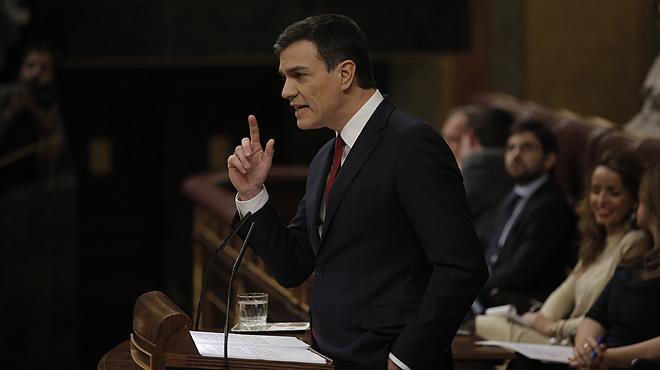 Extracto del discurso de investidura de Pedro Sánchez.