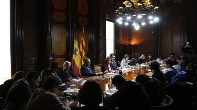 La ministra de Sanidad, Dolors Montserrat, en la delegación del Gobierno en Catalunya.
