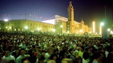 Inmediaciones del Estadi Olímpic Lluis Companys tras la ceremonia de inauguración.