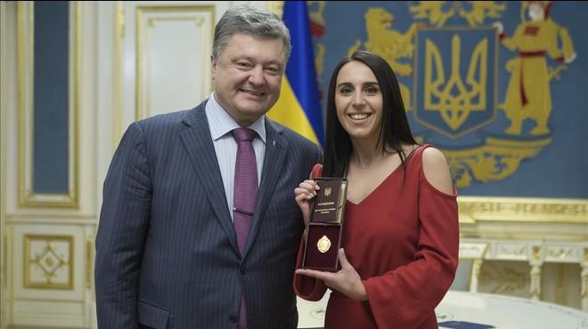 Kíev condecora la guanyadora d'Eurovisió