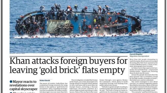 Portada del rotativo ingl�s The Guardian del d�a 26 de mayo del 2016.