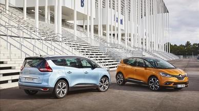 El nuevo Renault Sc�nic y Grand Sc�nic (azul) tienen dise�osdistintos en la zaga