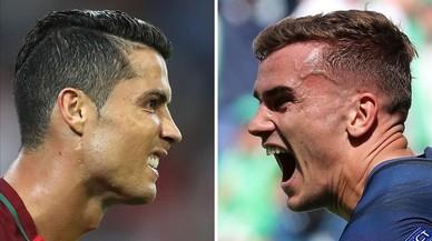 Cristiano Ronaldo y Griezmann, las estrellas de Portugal y Francia, las finalistas de la Eurocopa.