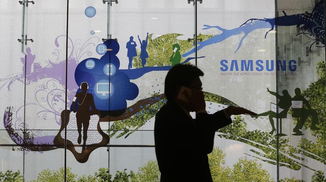 Sala de venta de productos de Samsung en Se�l, Corea del Sur.