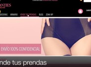 �P�gina principal de la web 'Secret Panties'.
