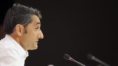 Valverde, en su despedida como entrenador del Athletic.