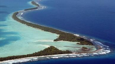 Funafuti, el principal atolón de Tuvalu, uno de los estados insulares del Pacífico amenazados por el aumento del nivel del mar.