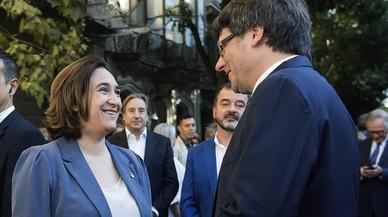 Puigdemont, Colau, Junqueras i Forcadell demanen per carta a Rajoy i al Rei un referèndum pactat