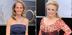 Helen Hunt (esquerra) i Jacki Weaver, dues de les actrius amb els vestits ms comentats.