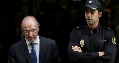 Rodrigo Rato, tras declarar ante la Audiencia Nacional, el mes pasado.
