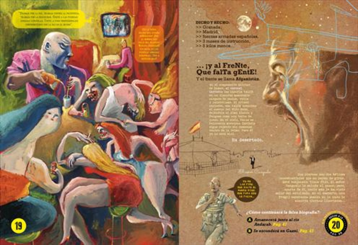 Páginas de El niño Nada, el nuevo cómic del dibujante e ilustrador Víctor Escandell.