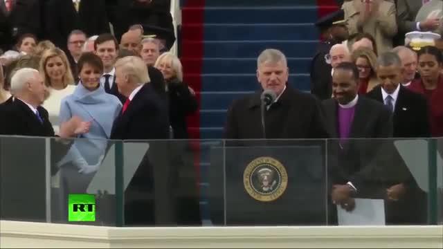 Reacción de Melania en la toma de posesión del presidente Donald Trump.