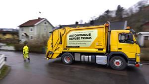 El camión de Volvo autónomo durante los ensayos.