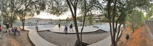 El skate park de Santa Coloma de Gramenet.