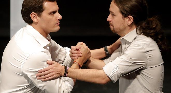 Picabaralla entre Pablo Iglesias i Albert Rivera per Otegi