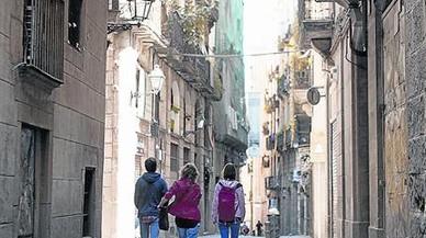 La calle de Ataulf, en cuyo Palau Reial Menor vivió Leonor de Sicilia.
