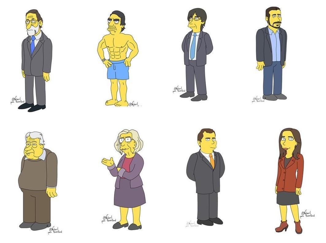 Els polítics espanyols, en el groc d''Els Simpson'