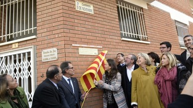 Artur Mas inaugura el carreró sense sortida dedicat al 9-N