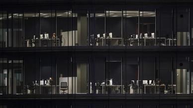 Edificio de oficinas en la zona de Gl�ries de Barcelona.
