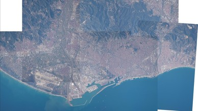 Barcelona vista per un astronauta
