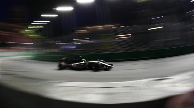 El mexicano Esteban Gutierrez, en el GP de Singapur.