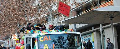 Pol�mica en Manresa por la pancarta carnavalera 'La Gabriel �s de tots'