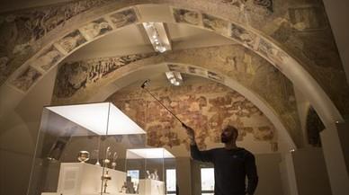 Una experta mundial ve imposible el traslado de las pinturas murales de Sijena
