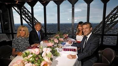 Así ha sido la tarde parisina de Brigitte Macron y Melania Trump