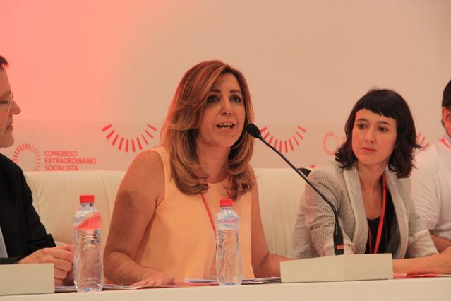 La presidenta andaluza, Susana Díaz, en la apertura del congreso extraordinario del PSOE, este sábado.