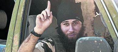 Un combatiente del Estado Isl�mico, en Kobani.