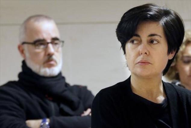 Rosario Porto y Alfonso Basterra, en una de las sesiones del juicio, el pasado 1 de octubre.