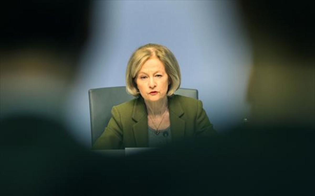 La presidenta del Mecanismo Único de Supervisión del Banco Central Europeo, Danièle Nouy.