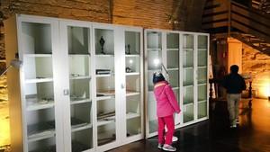 Los primeros bienes del Museu de Lleida devueltos a Sijena, en la sala capitular del monasterio aragonés.