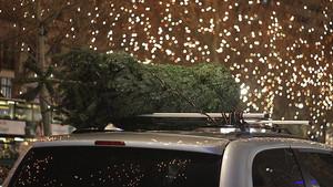 navidad coche luces