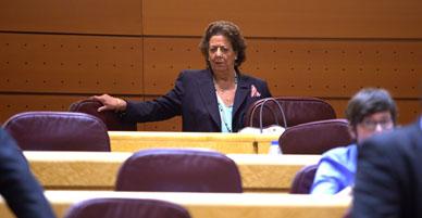 Barber� vuelve al Senado y renuncia a la portavoc�a del grupo mixto