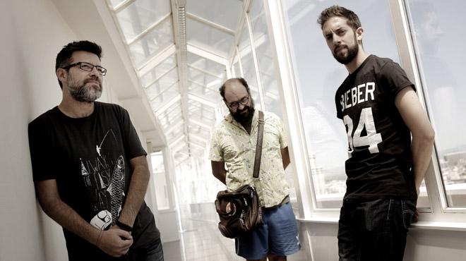 Los cómicos de 'La vida Moderna' actúan en la Sala Barts de Barcelona.