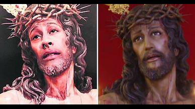 Un noi serà jutjat per superposar la seva cara en la imatge d'un crist